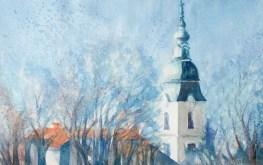 Kišni dan - akvarel, 2013., 31x49cm