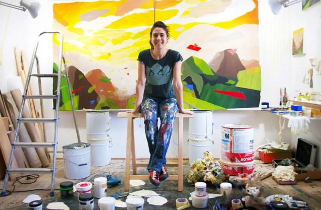 Andrea Musa u ateljeu