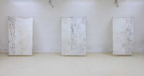 Mape prostora - frotaž, izložba u Galeriji Kazamat u Osijeku, 2017.