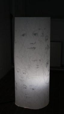 Promatranje promatrača - olovka na papiru, 151 x 190 cm, 2018.