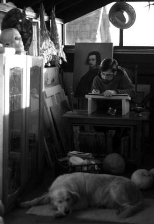 U ateljeu - fotografija, 175 x 124 cm, 2016.
