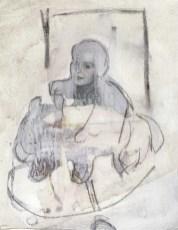 U pokretu - kombinirana tehnika, 27 x 21 cm, 2017.
