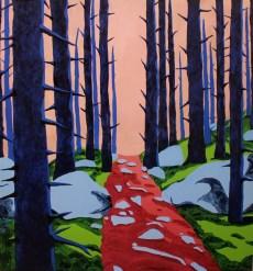 Ana Ratković Sobota - Forest, oil on canvas, 150 x 140cm, 2017.
