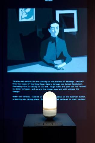 Nikola Radulović - Knjiga Skalvina, 2016., projektirana animirana E-knjiga s interaktivnim objektom za upravljanje, foto: Duško Miljanić