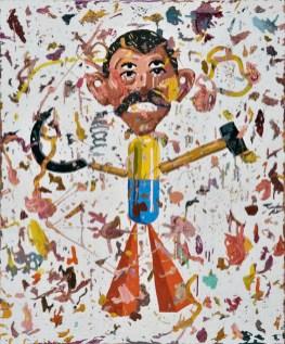 Arjan Pregl - iz serije Karneval, ulje na platnu, 120x100cm, 2018.