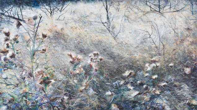 Joni Zakonjšek - Bijeli vjetar, Velika sela, jesen 2013.- proljeće 2017., ulje na platnu, 132x230cm