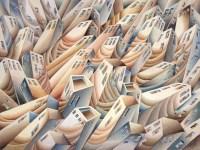 Damir Facan-Grdiša - Grad uspravni, akvarel na papiru, 54x70cm