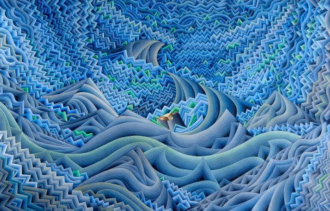 Damir Facan-Grdiša - More malo, akvarel na papiru, 100x150cm