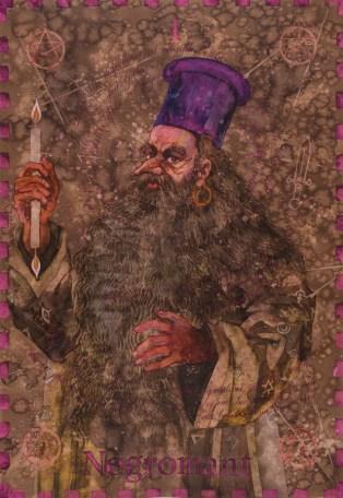 Siniša Reberski - Negromant Dugi Nos, akvarel na papiru, 50x70cm, 2019., foto: Josip Strmečki