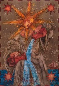 Siniša Reberski - Danica svijetla, akvarel na papiru, 50x70cm, 2019., foto: Josip Strmečki