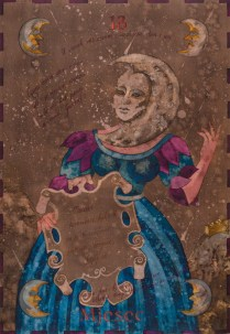 Siniša Reberski - Mjesec, akvarel na papiru, 50x70cm, 2019., foto: Josip Strmečki