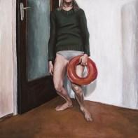 Autoportret - akril na ljepenci, 35x35cm, 2018.