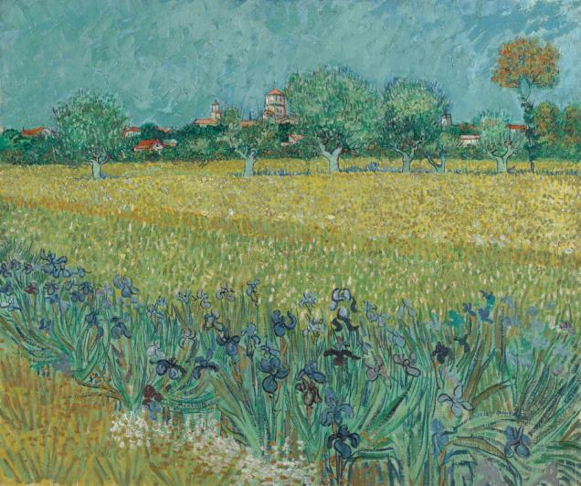 "Vincent van Gogh - ""Polje s irisima kod Arlesa"", Arles, svibanj 1888., ulje na platnu, 54 x65cm, Van Gogh Museum, Amsterdam (Vincent van Gogh Foundation)"