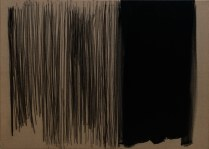 """Karbon & Black"", 80x110cm, akril i ugljen na platnu, 2017."