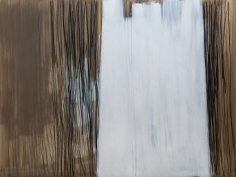 """""""Bijela kula"""", 150x200cm, akril i ugljen na platnu, 2017."""