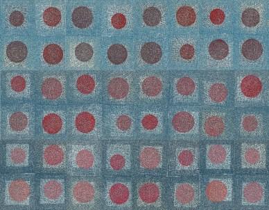 Red moves, 2018., linorez, 90x120 cm (12 segmenata)