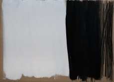 """White, Black & Karbon"", 80x110cm, akril i ugljen na platnu, 2017."