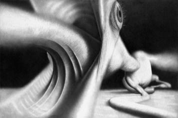 Asfiksija, 2006., olovka na papiru, 80 x 120 cm