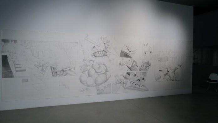 Davor Vrankić - rad u nastanku tijekom trajanja izložbe