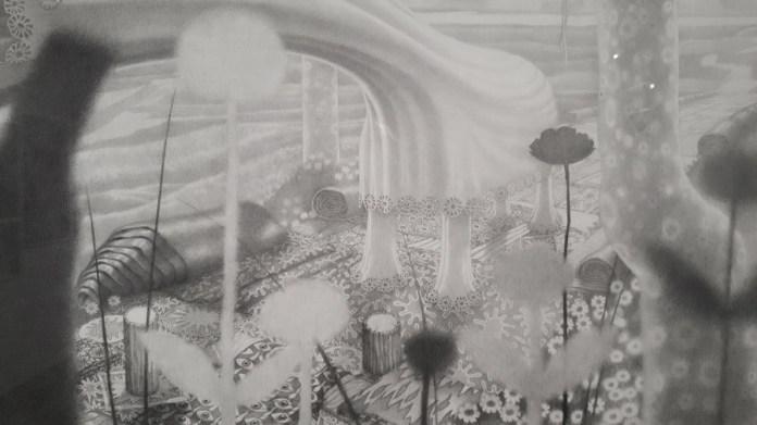 Paklena idila (detalj), 2015., olovka na papiru, 70,4 x 122,5 cm