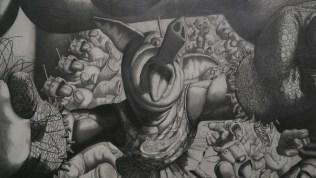 Priča o igračkama III (detalj), 2003., olovka na papiru, 150 x 750 cm