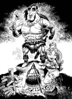 Hrvoje Ružić - strip ilustracija Konan; digitalno slikanje, 2019.