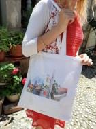 Motiv na platnenoj torbi