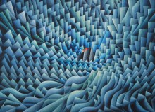 Damir Facan-Grdiša - Raster morski, akvarel na papiru, 56x76cm, 2020.