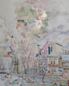 Detalj, dio rada Moja bajka zvana Cetinje, 1,5 m x 3m, 2020.