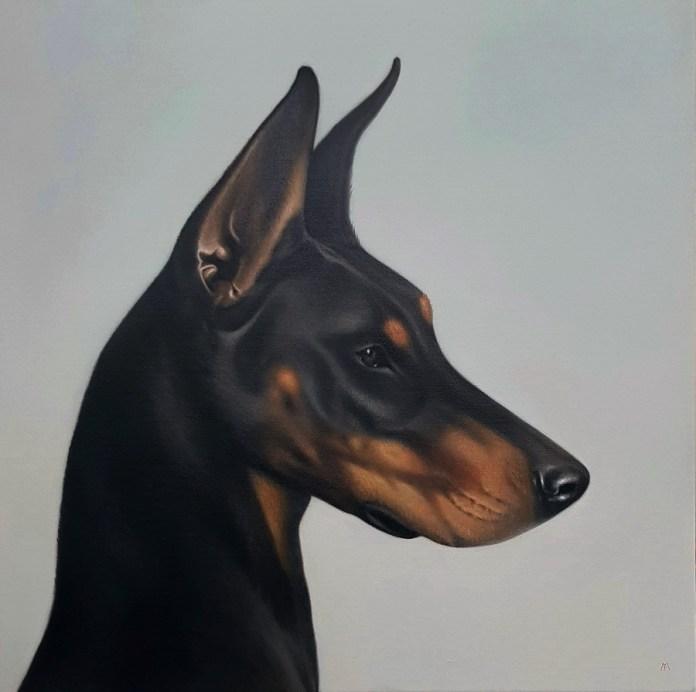 Good boy - ulje na platnu, 80x80cm (1. dio diptiha)