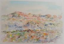 Planina, akvarel, 20x30cm, 2018.