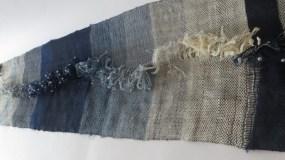 Sanja Šebalj - Klijanje, pamuk, svila, lan, tkanje, 4x19x80cm, 2020.