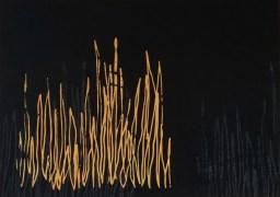 Tatjana Grgurina Vučetić - Ritam trave, ručni print na tekstilu, 50x70cm, 2020.