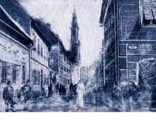 (De)konstrukcija grada - Varaždin, kombinirana tehnika, 35,5x50cm, 2019.