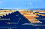 Trigonometrija žitnih polja - akrilik/ljepenka, 70x100cm, 2003.