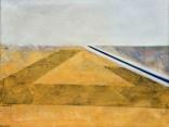 Veliki meandar žitnog polja - ulje i akrilik na platnu, 100x130cm, 2003.