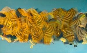 Klasje III. - akrilik/drvo, 81x130cm, 2013.