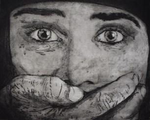 Shqipe Mehmeti - Silence, suha igla i olovka na papiru, 50x70cm, 2018.