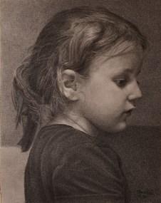 Mihaela - olovka na papiru, 21,2x16,6 cm, 2020.