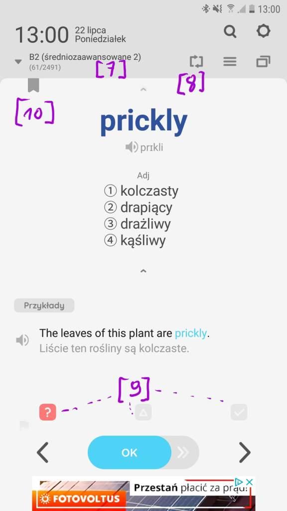 WordBit - opcje do nauki