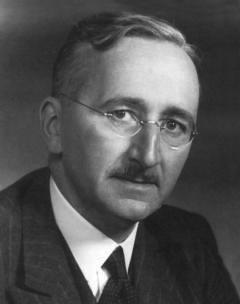 Black and White portrait of economist Friedrich Hayek.