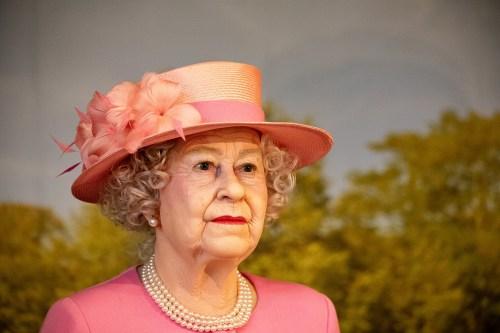 A wax figure of Queen Elizabeth