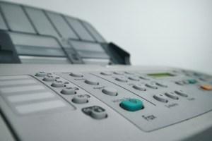 A fax machine in Japan
