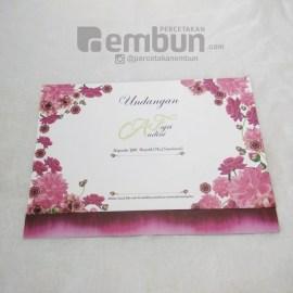 Kartu Undangan Bunga Pink Magenta