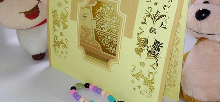 Kartu Undangan Royal 012 Kuning Cerah