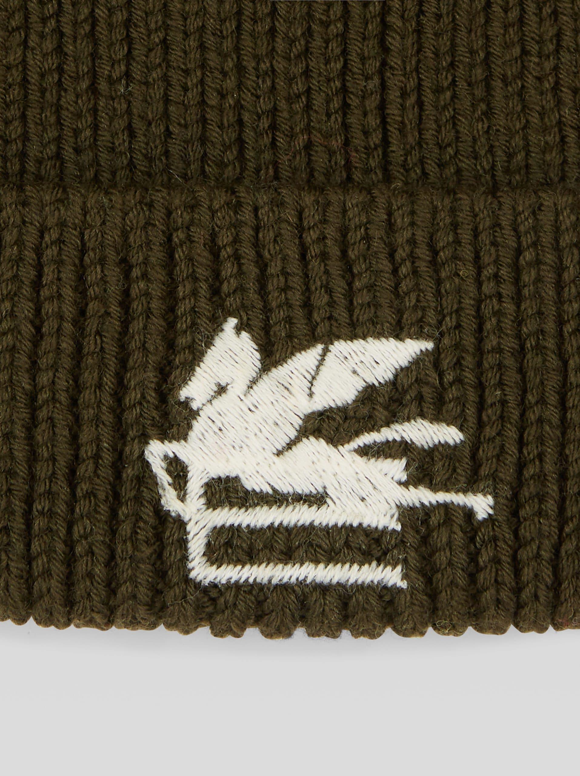 gorro lana etro verde