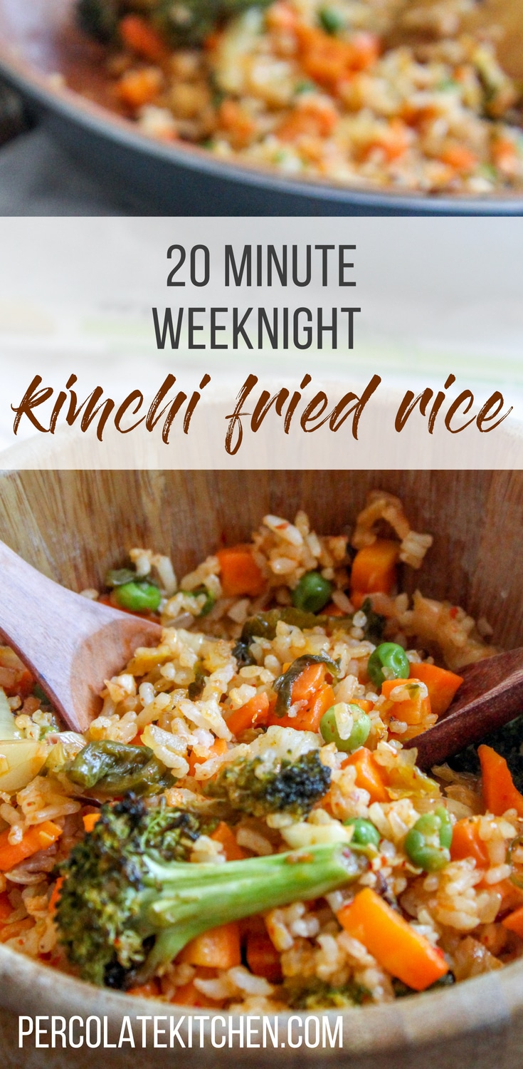 I love ordering kimchi fried rice but I never reazlied how easy it is to make! It's a great way to use up leftovers for dinner, too. Plus, you can make it as spicy as you wish. Love the drippy egg yolk