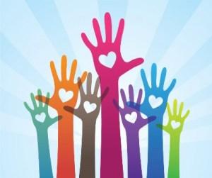 followers raise their hands
