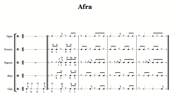 afra_bas_sheet - Full Score