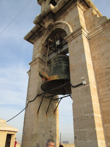 """The bell, """"Little Michael"""" (a.k.a. Miguelete). This thing rang when we were up there and scared the **** out of us and everyone else when it did so :)"""
